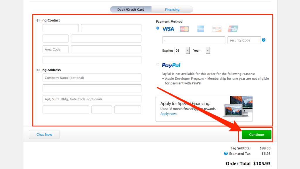 finalize your payment